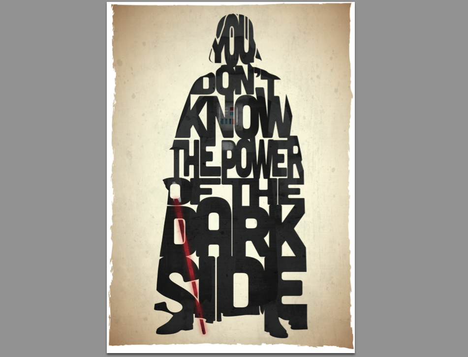 This 17th & Oak print was inspired by a quote from the film Return Of The Jedi.