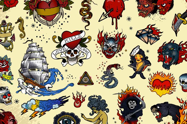 50 classic tattoo designs as vectors bigstock blog maxwellsz