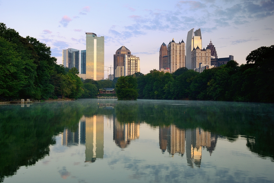 Midtown Skyline from Piedmont Park  by  SeanPavonePhoto