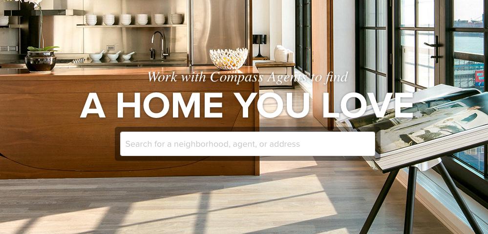 Screenshot of UrbanCompass homepage