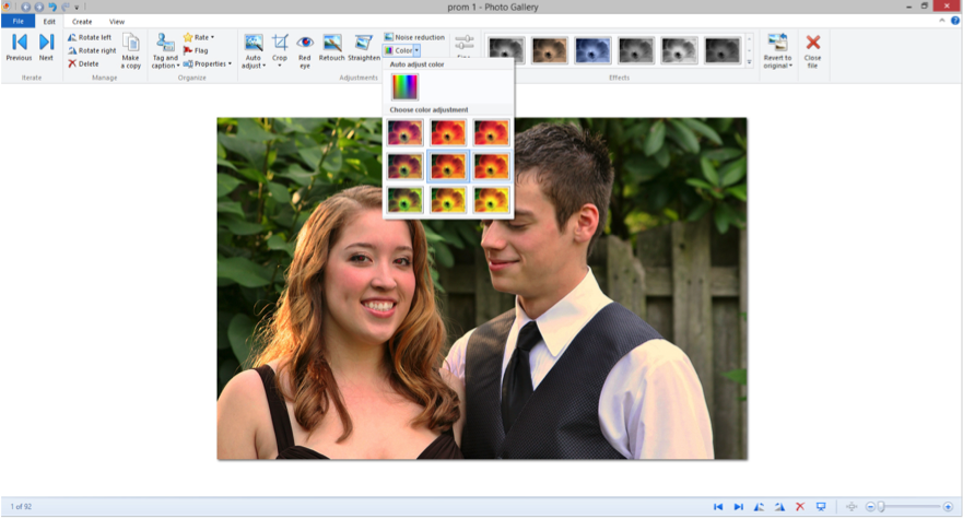 Screenshot of Windows Photo Gallery.