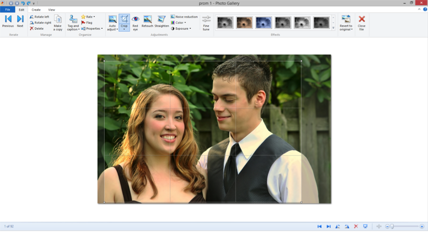 Screenshot of Windows Photo Gallery