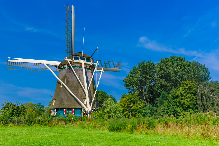 Image of Windmill in Amsterdam  by  kavalenkava volha   A break from the urban streets might be good for your lungs, and the windmills are a perfect excuse to get some fresh air. They sit along lush green landscapes and were once an omnipresent part of life in Holland. And though there were once 10,000 windmills all over the Netherlands, only eight remain in Amsterdam.