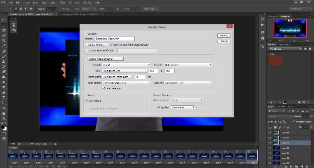 Screen shot image of Photoshop's Render Video screen.