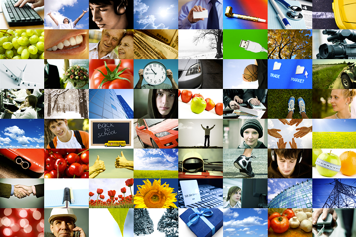 Stock photo collage of images.