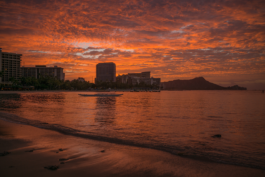 Image of Waikiki Sunrise in Honolulu by Theodore Trimmer