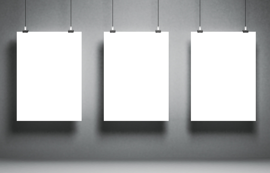 Stock image of blank white panels by3DProfi.