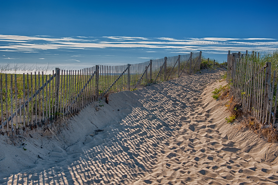 Stock image of summer scene at Cape Cod.