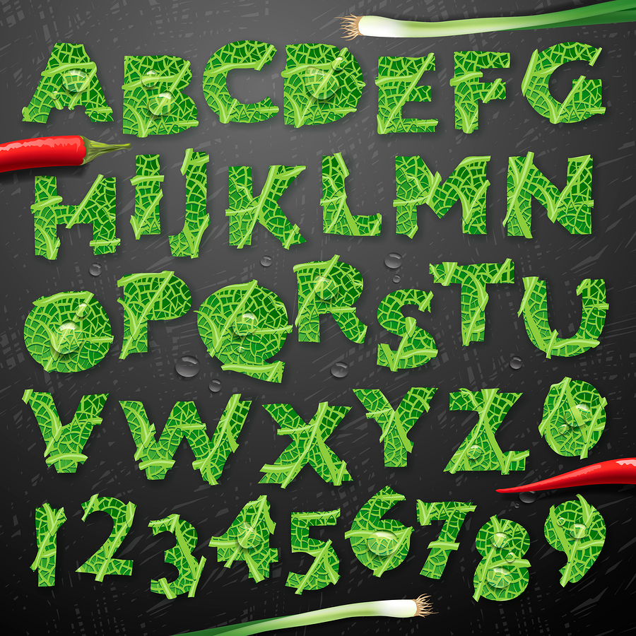 "Photos ""Green Lettuce Alphabet"" by ikopylov."