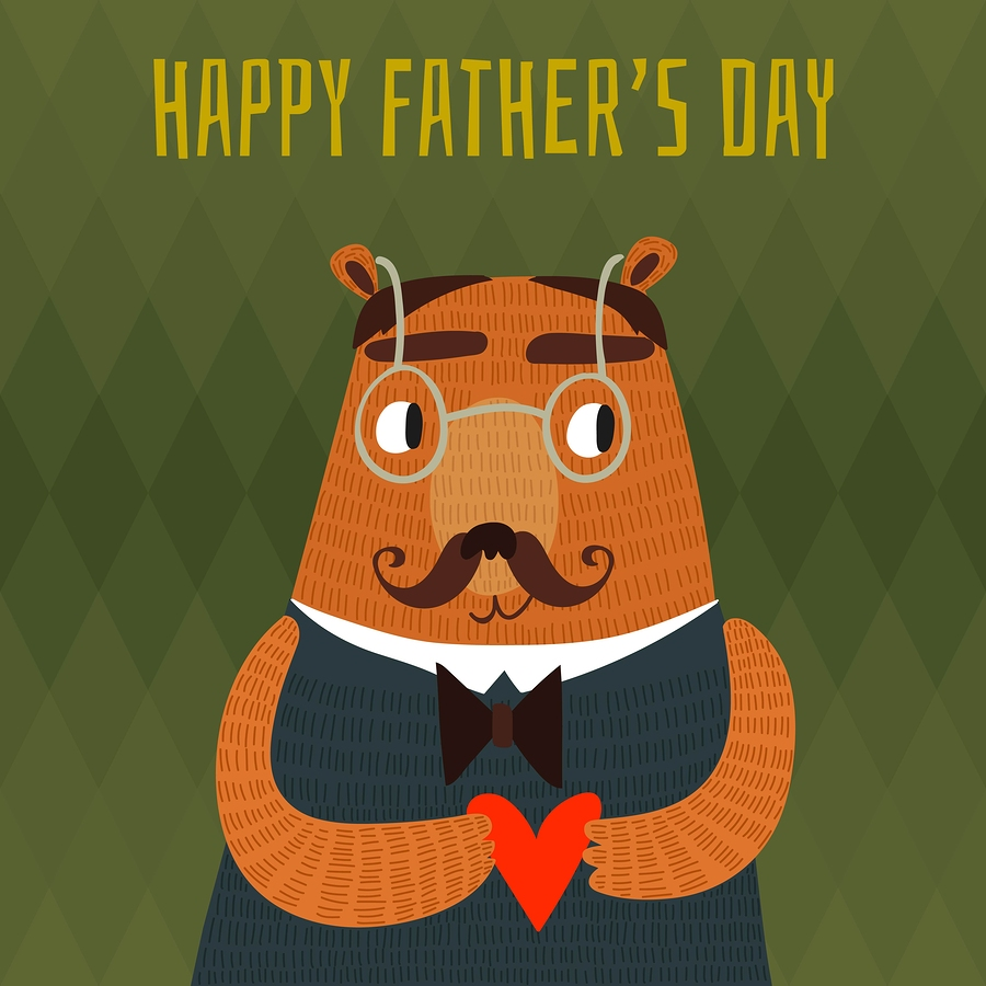 Father's Day bear illustration by  Ovocheva .