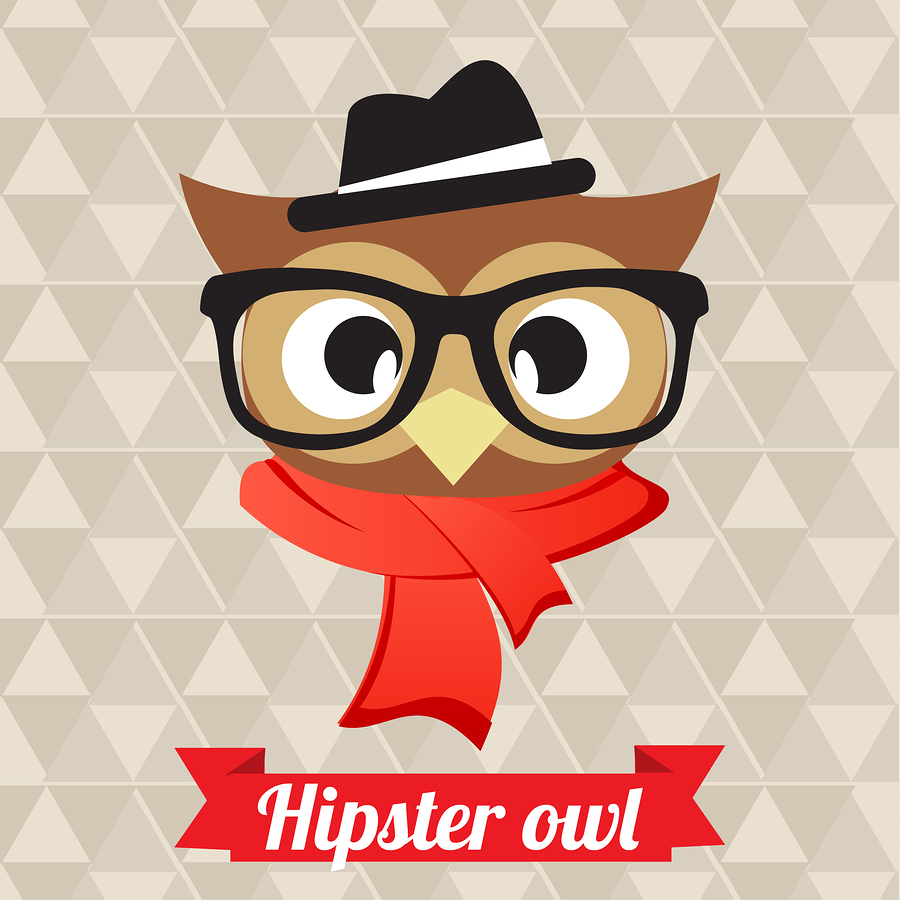 Hipster owl illustration by  AcaG .