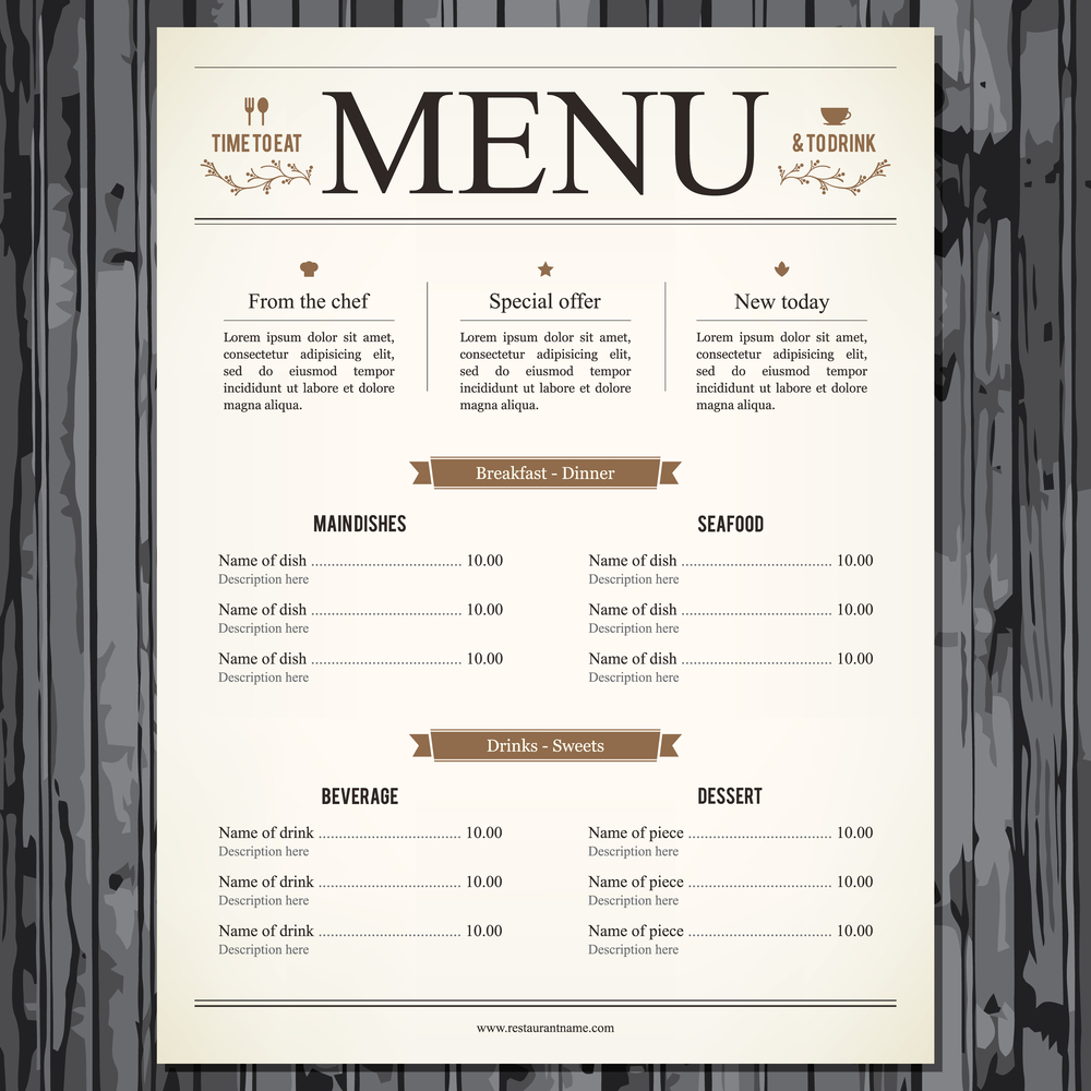 restaurant menu graphics and icons for delectable design. Black Bedroom Furniture Sets. Home Design Ideas