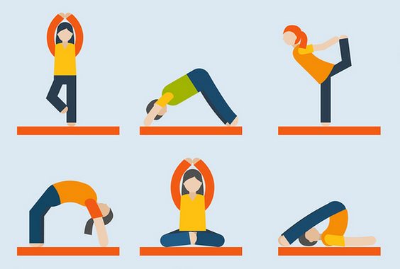 Yoga Graphics and Icons for Marketing Zen