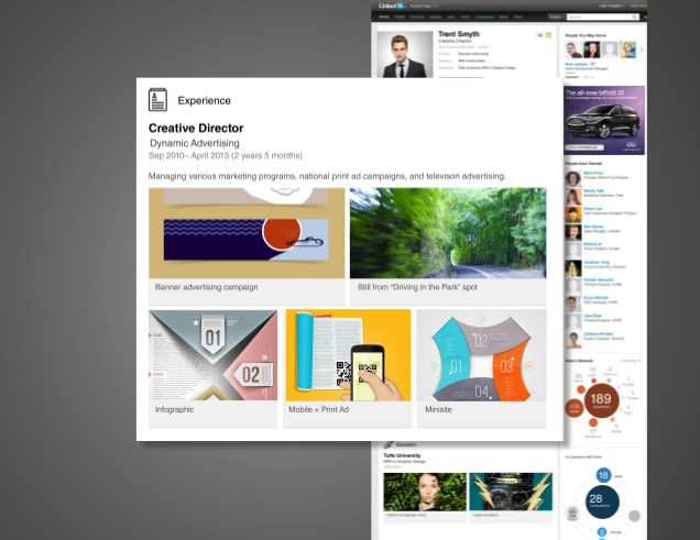 Screenshot of LinkedIn platform