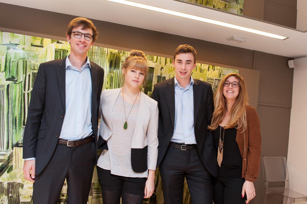 The Organight team: Pierre, Maëlle, Guilhem, and Sandra.