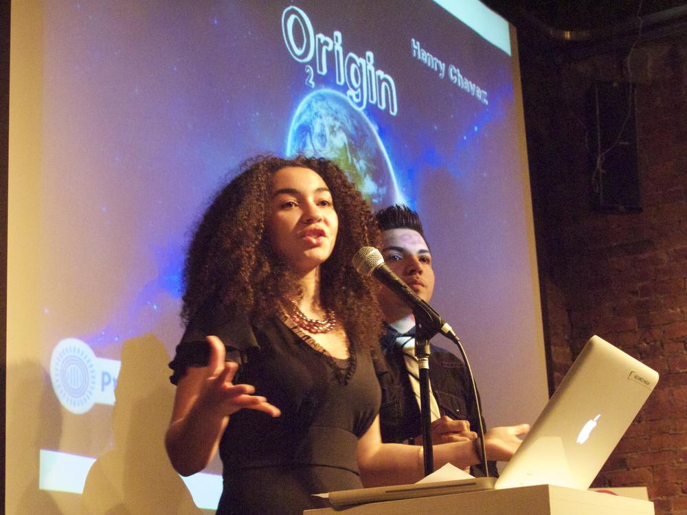 The O2rigin team: Rachel and Henry