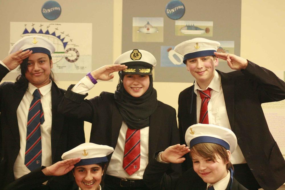 The Ship Synthia team: Maria, Emily, Philip, Zara & David.