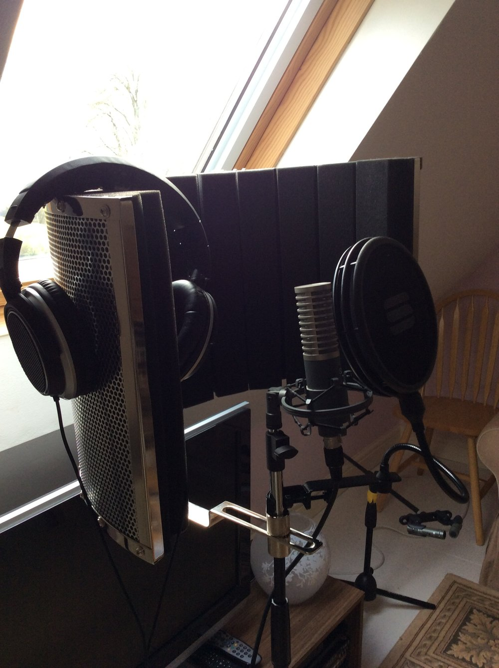 The vocal 'booth'