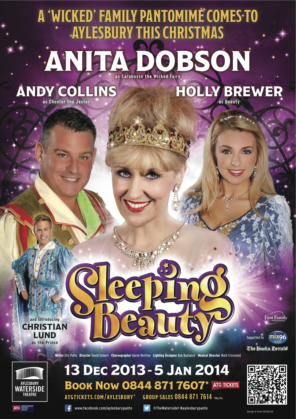 December 2013/January 2014    Playing 'Beauty' in Sleeping Beauty at Aylesbury Waterside Theatre.