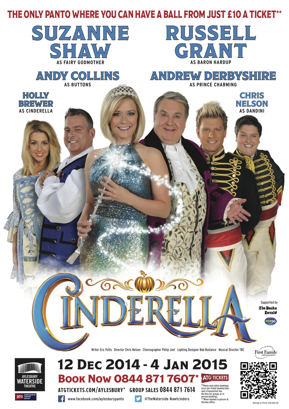 December 2014/January 2015    Playing the title role of 'Cinderella'  back at Aylesbury Waterside.