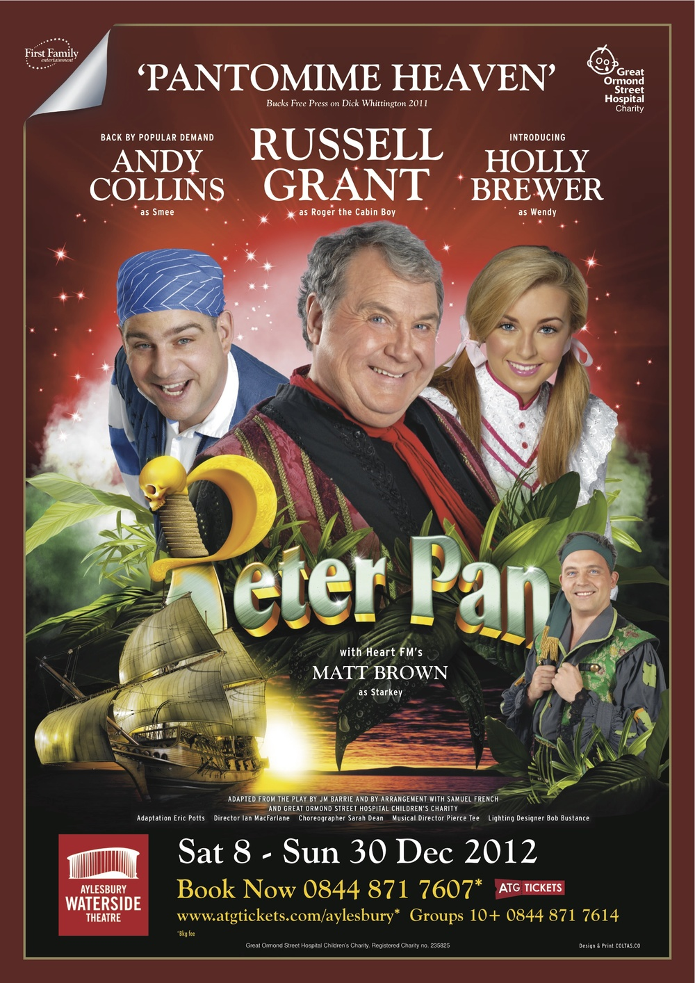 December 2012/January 2013    Playing 'Wendy' in Peter Pan at Aylesbury Waterside Theatre.