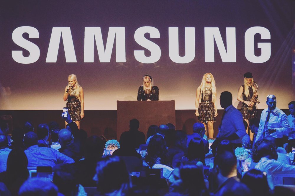 April 2017    Performing with 'Girls International' at the launch of the new 'Samsung S8/S8+' in Morocco.     www.girlsinternational.co.uk