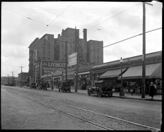 West side of Granville Street looking South from 11th Ave, 1925 Photo courtesy of VPL Archives, (VPL Accession Number: 30369)