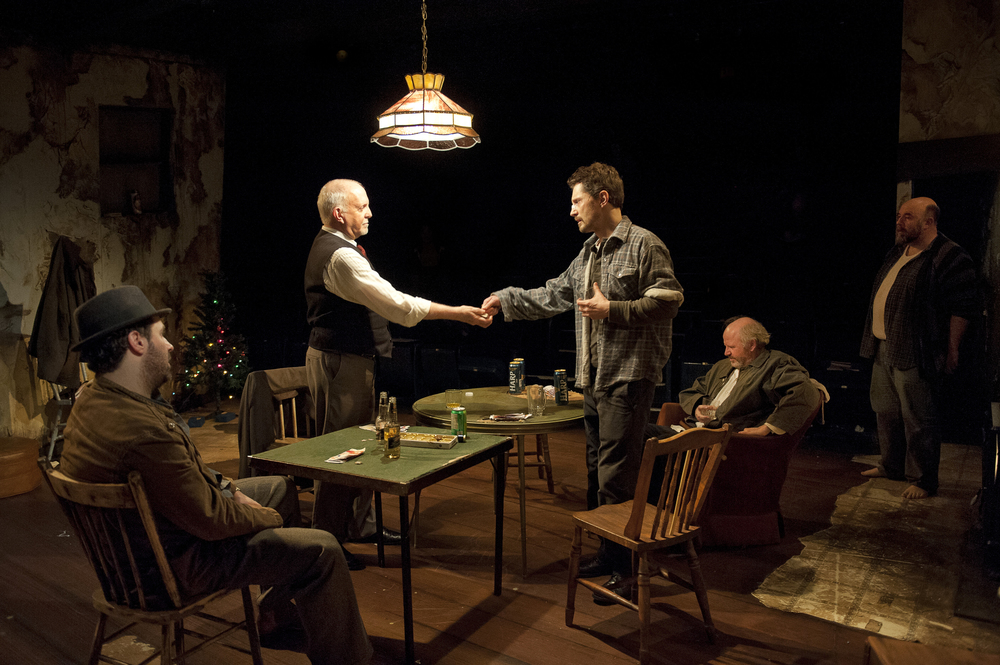 Photo by Emily Cooper. Pictured: Andrew McNee, John Innes, John Emmet Tracy, Ron Reed, and Tim Dixon.