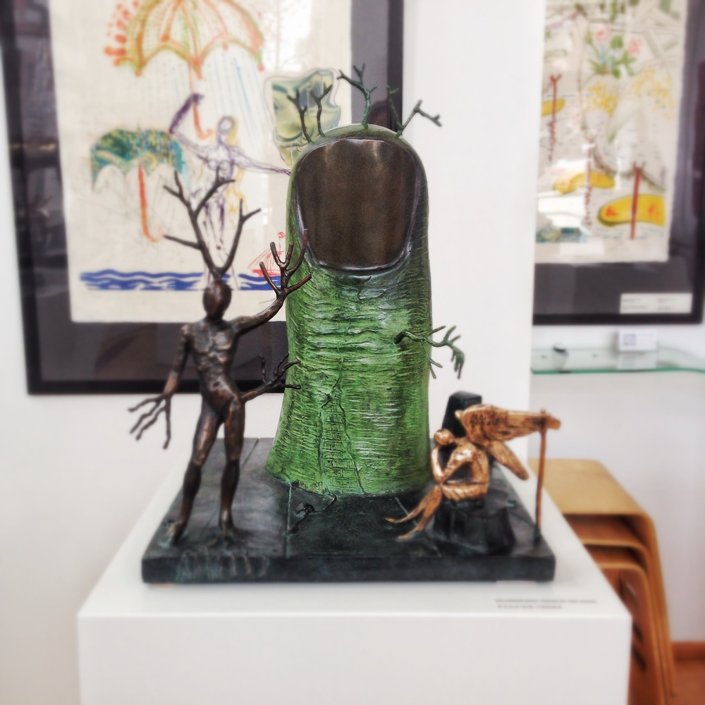 Vision of The Angel - bronze - Salvador Dali at Chali Rosso Gallery