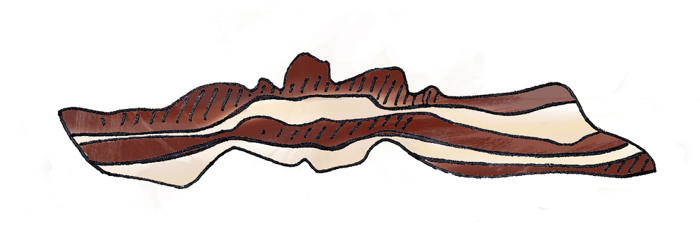 Bacon: nature's heroin - Illustration by  Zenija Esmits