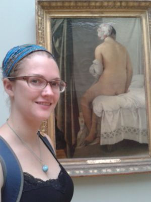 Erica after seeing her fave painting of all time, for the 1st time