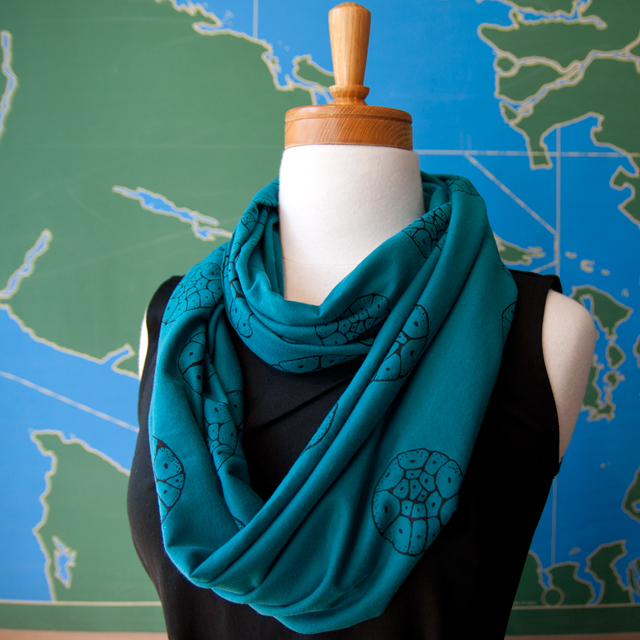Loop Scarf - Bora Bora blue by Smoking Lily. Image: smokinglily.com