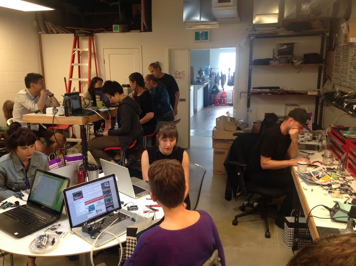 RGB LED Workshop at Limbic Media. Image courtesy of Limbic Media.