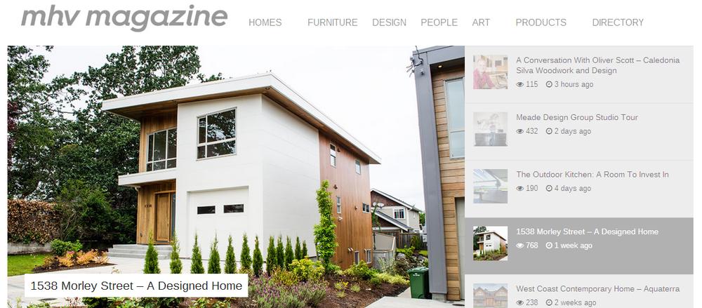 Modern Home Victoria Magazine - online screen shot