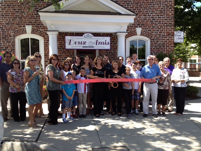 Our Grand Opening ribbon cutting ceremony.