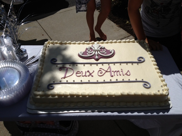 Our Grand Opening cake, made by Dlish Bakery & Cafe in Chester, Virginia. http://www.dlishbakeryandcafe.com/