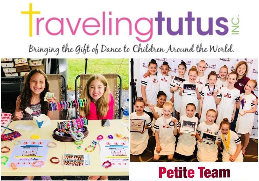 MDA Petites participated in Traveling Tutu's. At Traveling Tutus, they believe unneeded costumes and dance attire are a precious resource that can be re-purposed to bring joy to children all around the world. As a dancer, dance parent, instructor, or friend of the arts you know all too well how dance can be used to instill confidence, give joy, and foster self-expression.  We are so proud of our Petite team for donating their time with www.travelingtutus.org
