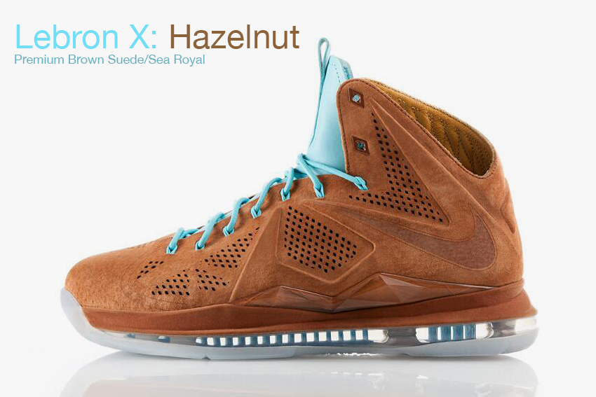 Lebron X : Hazelnut