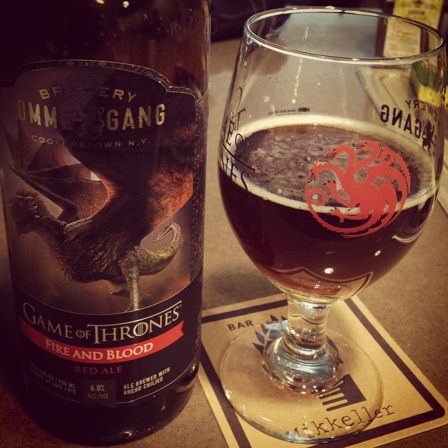 Fire and Blood. Game of Thrones. 🔥&💉 🔥🐲🐉🐲🔥🍺#gameofthrones #ommegang #beer