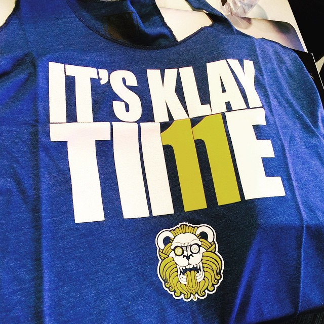 Let's get it #dubs #dubnation #gsw #playoffs #nbaplayoffs #houvsgsw #itsklaytime #piecekeeper #warriors #goldenstate #bayarea #oakland #nba #finalsbound #westernconference #game1