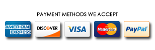Accepting all major credit cards!