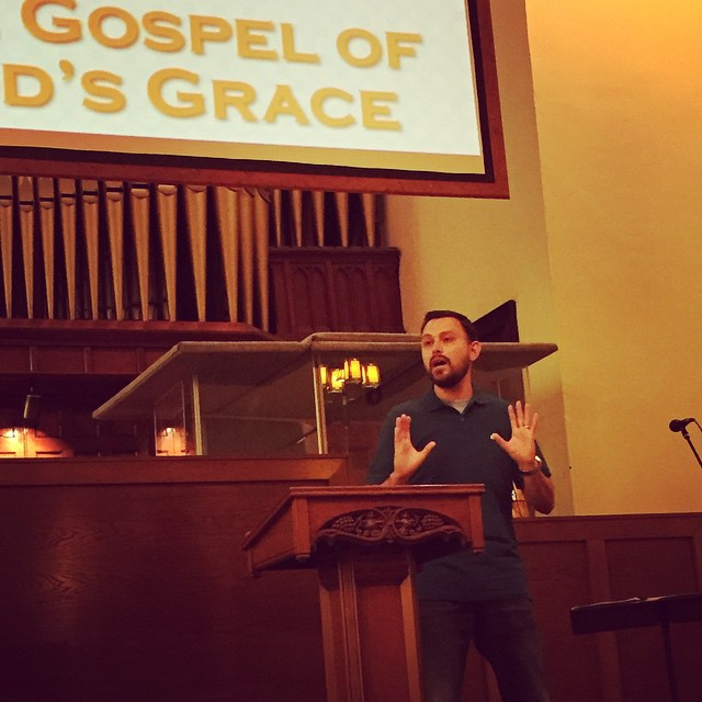 @johnkaehr preaching God's grace to us this morning at Christ Church Michigan City. Thankful for God's work in his life.
