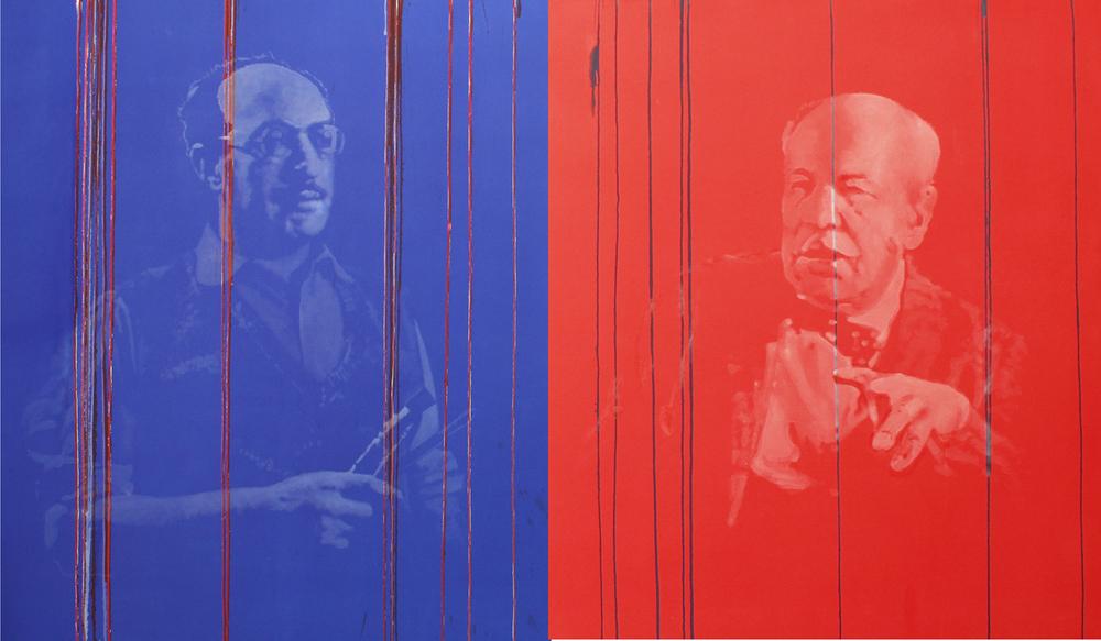 Tears for Rothko &Newman  Acrylic 5'x10'