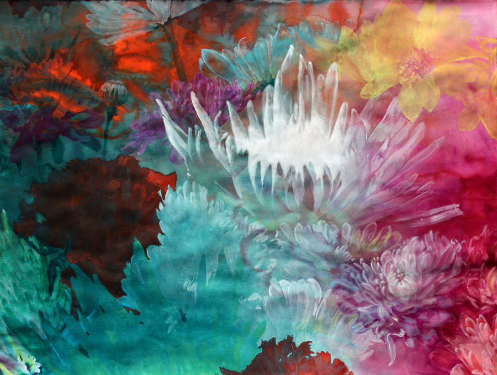 "BeautifulMindedness    Watercolor 52""x68"""