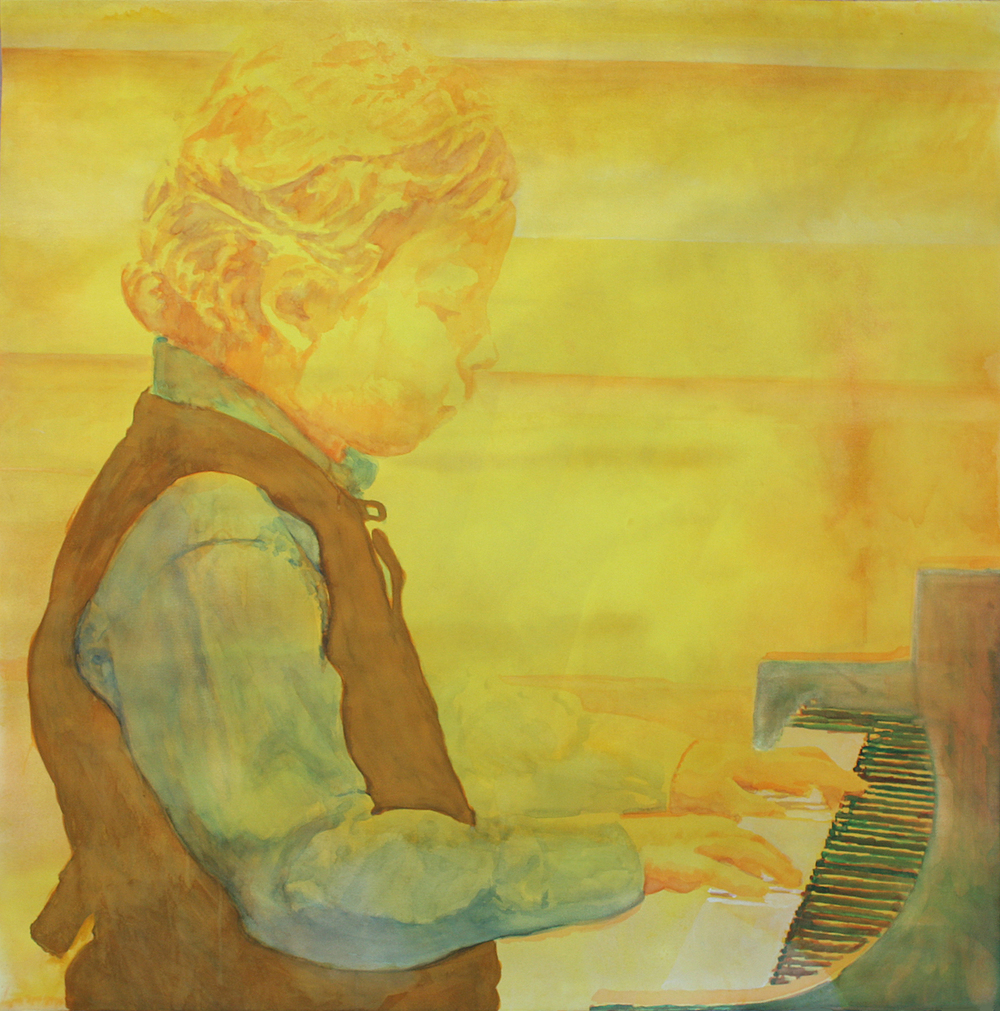 "Recital            Watercolor  52"" x 52"""