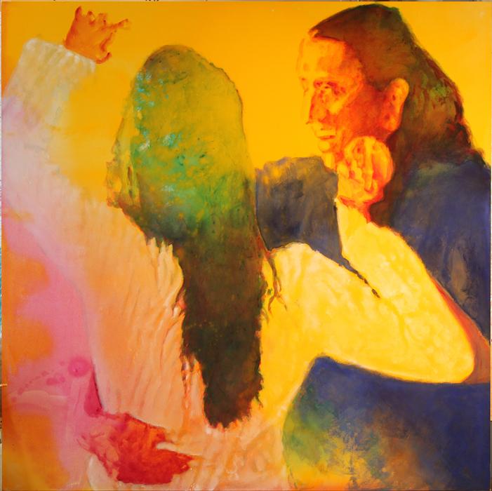Dancers   Acrylic 6' x 6'  20015