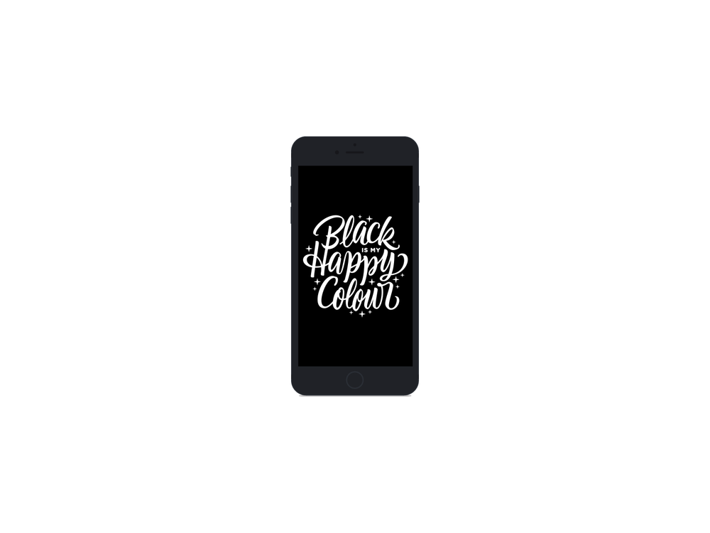 Phone Wallpaper    Black Happy    DOWNLOAD