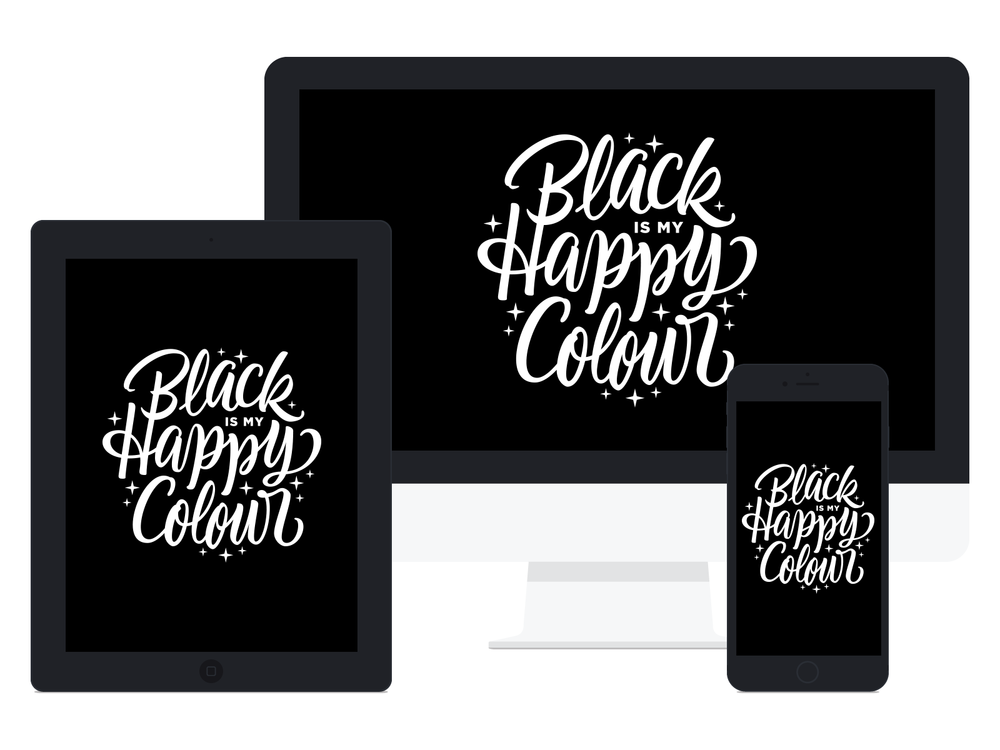 Black Happy Wallpaper