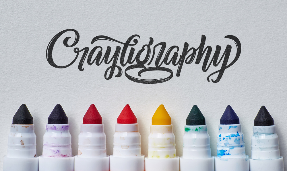 Crazy Crayola Calligraphy — Tierney Studio