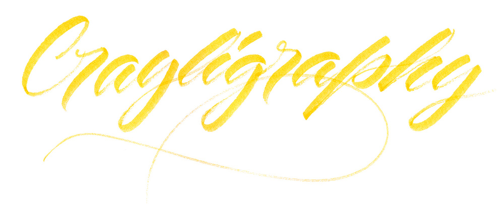 Crayligraphy written by Matt Vergotis